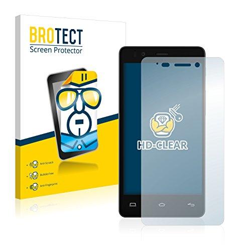BROTECT Schutzfolie kompatibel mit BQ Aquaris E4 (2 Stück) klare Bildschirmschutz-Folie