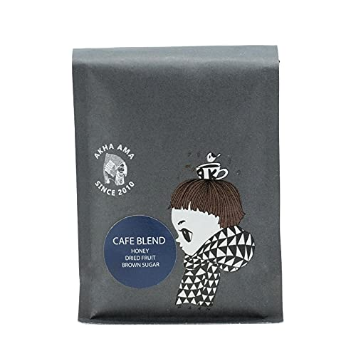 Akha Ama Whole Bean Coffee Blend, Cafe Blend, Light to Medium Roasted Thai Coffee Beans, Single Origin Roasted Coffee Bean from Thailand, 8.8 oz. / 250 g. (Pack of 1)