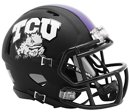 NCAA Texas Christian (TCU) Horned Frogs 2019 Alternate Matte Black Speed Mini Football Helmet