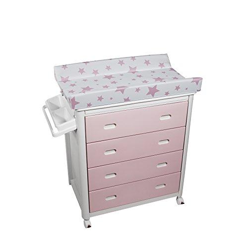 Plastimyr - Bañera cajones Rosa Estrellas Rosa