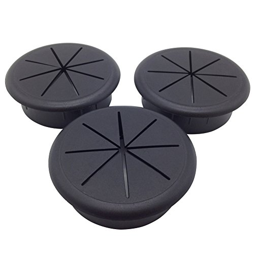 ANZESER 60 mm Ø Kunststoff Flexibel Kabeldurchführung schwarz 3 Stück