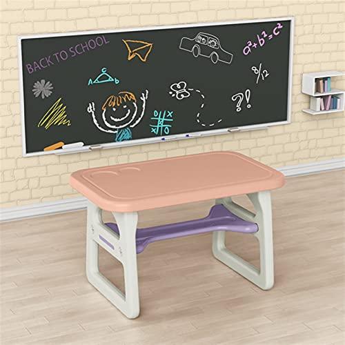 RWEAONT Kindergarten Minimalista Moderno Estudio Tabla Ambiental Plástico Inicio Inicio Juego Multifuncional Simple Dinin (Color : Pink Single Table)