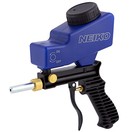 NEIKO 30068A Air Sand Blaster Gun | Remove Paint, Rust, Stains, and Grime on Surfaces | Gravity Feed | Replaceable Steel Nozzle