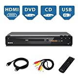 Home DVD Player for TV, HDMI Output Full HD 1080p Upscaling, USB Port, Supports...