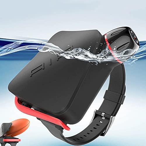 HAIT Portátil Anti ahogamiento Pulsera Flotador con Brújula, Boya de Natación Pulsera, Resistente al Agua de 100 kg a 180 kg, ya Que llenará el Airbag en 1-2 Segundos,Negro