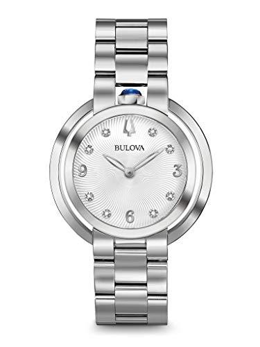 Bulova Damen Analog Quarz Uhr mit Edelstahl Armband 96P184