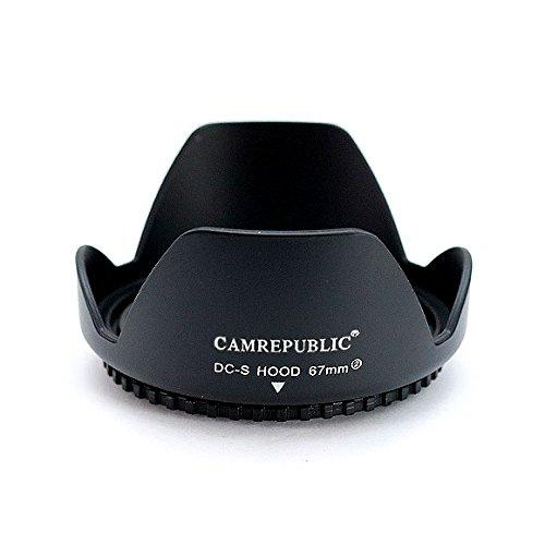 Camrepublic® 67mm REVERSIBLE Reemplazo Parasol del Objetivo para Canon EF 35 mm f/2 IS USM, Canon EF-S - 18 135 millimeter f/3,5 - 5,6 IS STM, Canon EF 8-15mm F4 L ojo de pez USM, Canon EF 70 - 300 millimeter f/4, 0-5, 6 L IS USM, Canon EF-S - 18 135 millimeter f/3,5 - 5,6 Es, Canon EF 100 mm f/2.8L Macro IS USM, Canon EF 70 - 200 millimeter f/4,0 L IS USM, Canon EF-S 17-85mm f4-5,6 IS USM