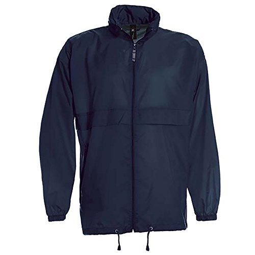 B&C Sirocco Mens Lightweight Jacket/Mens Outer Jackets (L) (Navy Blue)