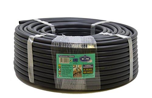 S&M 010064 Bewässerungsrohr - 16 mm x 100 m - schwarz