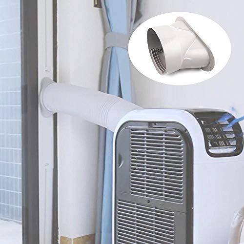 Aiboria Interfaz de canal de escape de 130 mm, adaptador de tubo de aire acondicionado portátil, interfaz de boca plana, conexión de tubo de escape, fácil de usar.