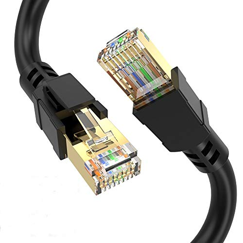 ConnBull Cable de Red Cat 8, Cable Ethernet Network Lan 40000Mbit/s con...