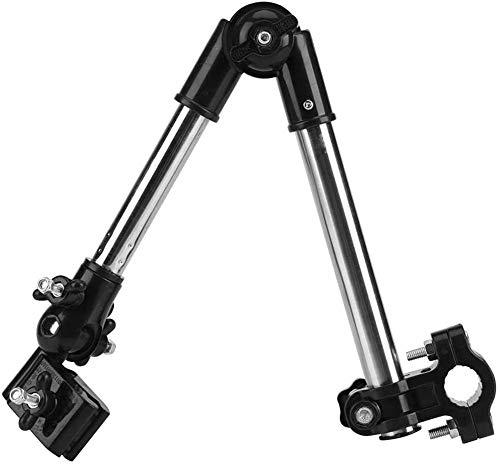 RZiioo Regenschirmhalterung Verstellbarer Außenschirmhalter für Fahrrad-Elektrorollstuhl-Rollstuhl,Schwarz