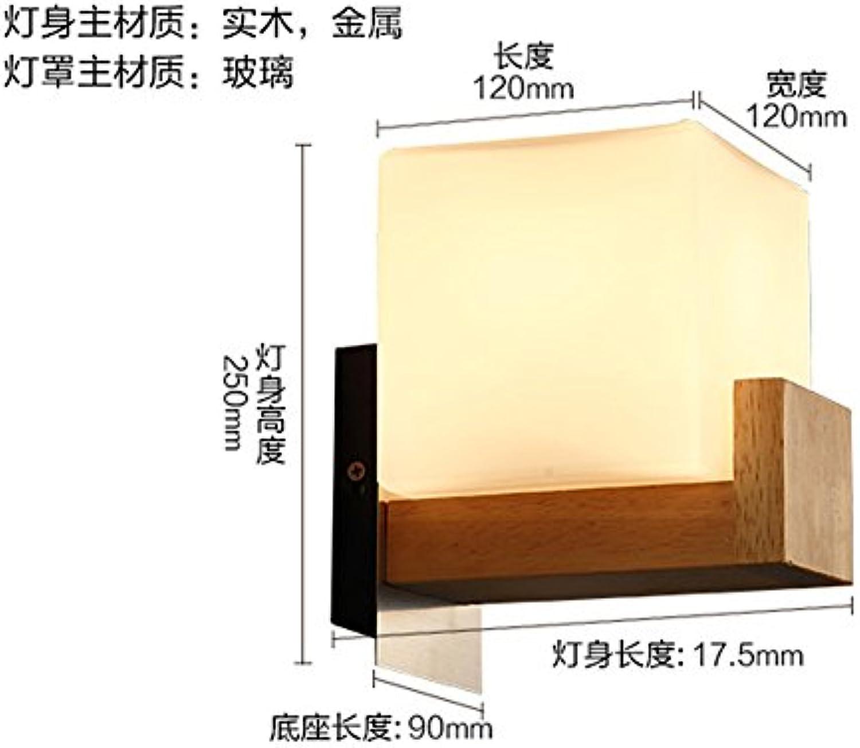 Firsthgus Schlafzimmer Einfache Moderne Nachttischlampe Wohnzimmer Badezimmer Treppenhaus Gang Holz Wandleuchte