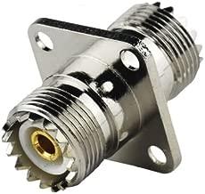 2-PCS UHF SO-239 Female to Female 4 Hole Flange Mount CB Radio Connector Adapter