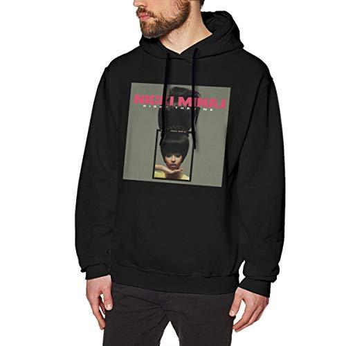 NAasks Kapuzenpullover, Nicki Minaj Right Thru Me Man's Fashion Hoodie Sweatshirt Black