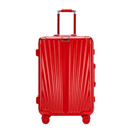 YUNY Maleta de cabina ligera ABS + PC equipaje de transporte con 4 ruedas giratorias trolley box boda luna de miel rojo