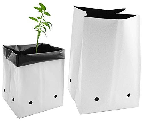 Viagrow V724400-100 V7244 Grow Bags, 1 Gallon 100 Pack, White
