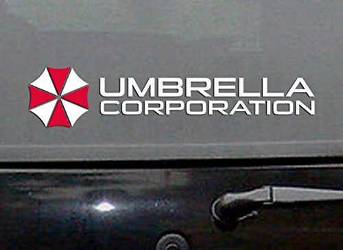 2 X UMBRELLA CORPORATION no.2 Resident Logo AUFKLEBER 12cm Kralle Claw Auto Tuning Styling Motorrad
