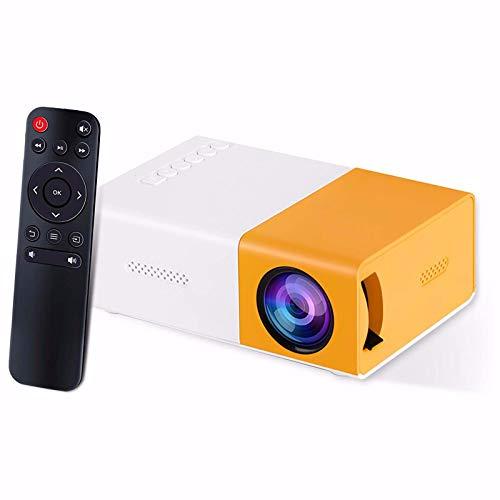 Mini-Projektor G300 Tragbarer Drahtloser LED-Projektor 1080P Full HD-unterstütztes Heimvideokino Mmit HDMI-USB-AV-Filmprojektor Kompatibel Alle Geräte für Partyspiele Kind Vorhanden