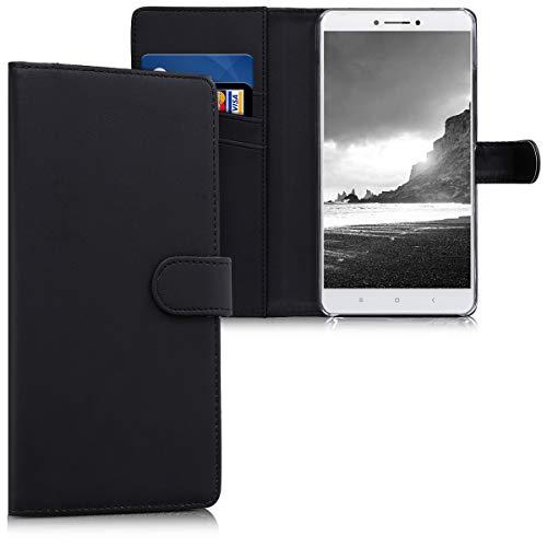 kwmobile Funda Compatible con Xiaomi Mi MAX 2 - De Cuero sintético - Case con Tarjetero en Negro