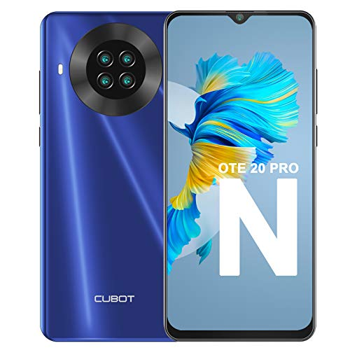 CUBOT Note 20 Smartphone, Teléfono Móvil Libre Android 10.0 6,5 Pulgadas 64GB ROM 4200mAh Quad Cámara12+20MP, Face ID GPS WiFi Dual SIM Quad-Core,Azul