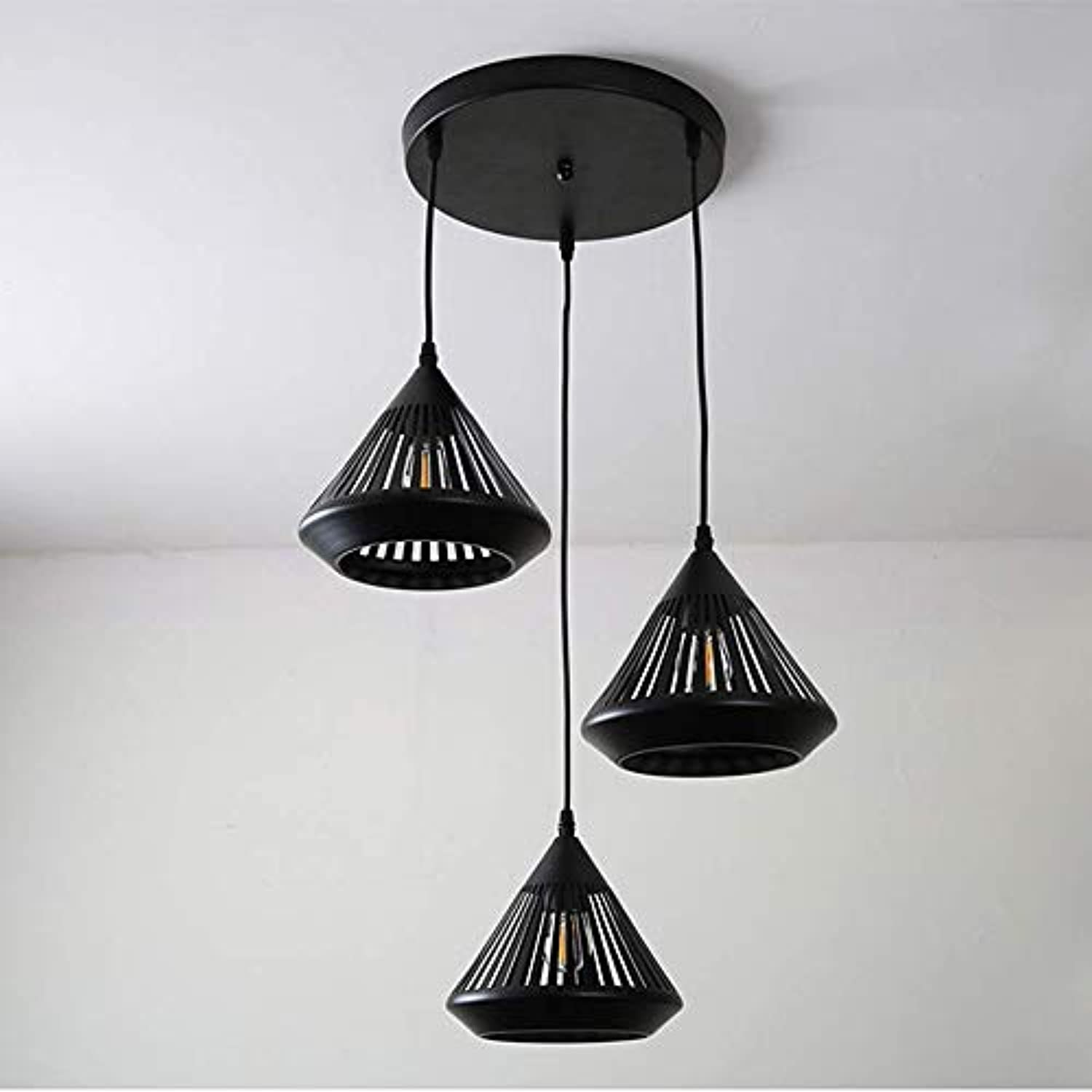 Modern Dining Room Chandelier Light Hollow Carved Iron Craft Pendant Lamp Creative Pendant Light for Dining Room, Restaurant, Hotel, Café, Platz,B