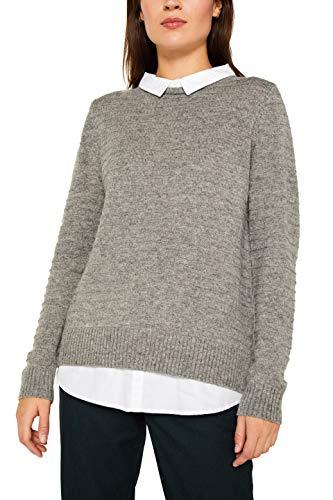 ESPRIT Damen 109Ee1I014 Pullover, Grau (Medium Grey 5 039), Small (Herstellergröße: S)