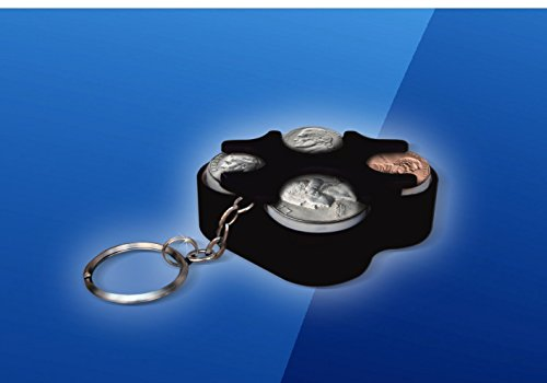 Key Chain Coin Holder Organizer Assorted Colors (Black)
