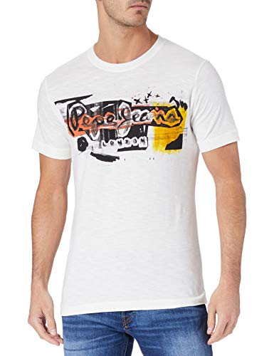 Pepe Jeans Amersham Camiseta, 803off White, M para Hombre