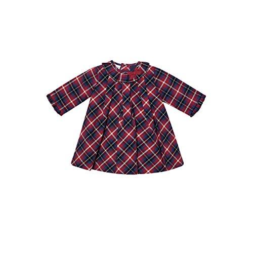 PAZ Rodriguez 004-65461 Vestido, Rojo (Rojo Persa), Recién Nacido (Tamaño del Fabricante:3M) para Bebés