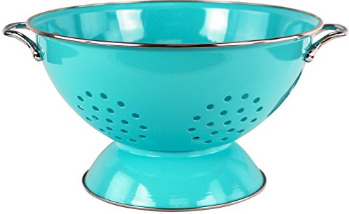 Calypso Basics by Reston Lloyd Powder Coated Enameled Colander, 5 Quart, Turquoise