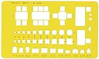ウチダ テンプレート No.504 建築室内記号定規 1-843-0504