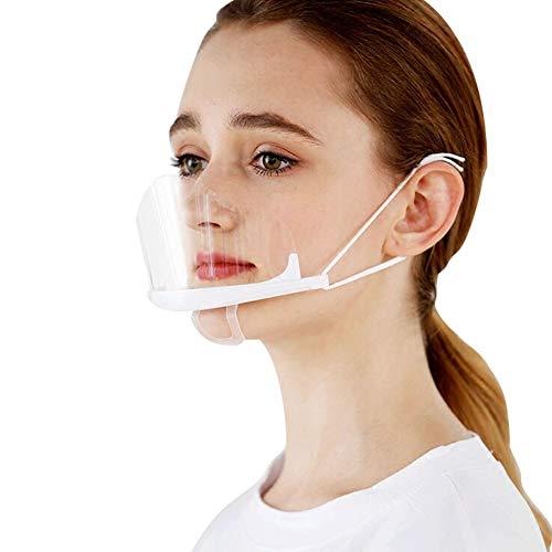 AIEOE 10 Stück Safety Gesichtsschutzschild Kunststoff Visier Gesichtsschutz Anti-Fog Anti-Öl Splash Transparent Schutzvisier - Essen Hygiene Spezielle Anti-Saliva Sesichtsschutzschirm