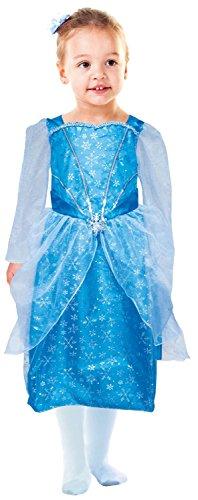 Idena 30076 Enfants Costume Princesse, Robe avec Flocons de Neige