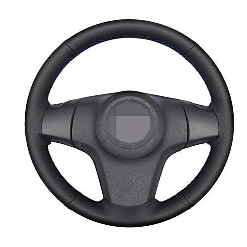 NIUASH Handgenähte Leder-Lenkradabdeckung für Chevrolet Niva(3-Speichen) Opel Corsa (D) 2009-2017