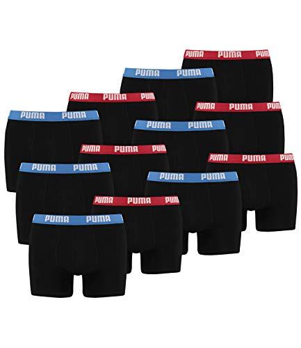 Puma - Confezione da 12 boxer da uomo Rosso/Blu s