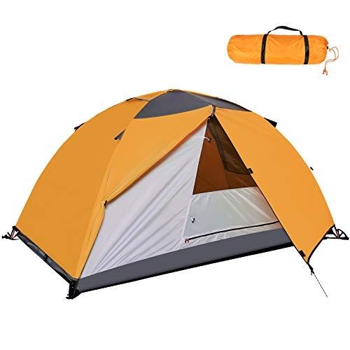 Asteri Camping Tent Lightweight 2 Person Waterproof Backpacking Tent Easy Setup Hiking Tent with Rain Fly & Floor Mat Dome Tent for Beach Mountaineering Traveling and Outdoor