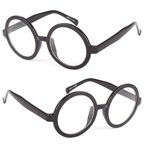 Homer Simpson - Gafas de cristal transparente con montura de 50 mm de grosor, color negro y transparente