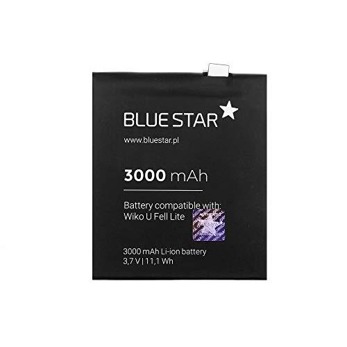 Blue Star Premium - Batteria agli ioni di litio da 3000 mAh con capacità di carica rapida 2.0 Compatibile con Wiko U Feel Lite
