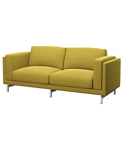 Soferia Funda de Repuesto para IKEA NOCKEBY sofá de 2 plazas, Tela Classic Dark Yellow, Amarillo