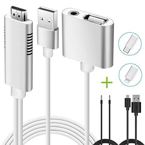 Smartphone USB HDMI Kabel Adapter, Weton MHL auf HDMI mit Audio HD 1080p Kompatibel with IOS Android Phone für TV Projektor Überwachen