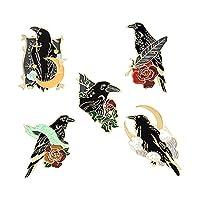 5 〜 7 ピース/セットエナメルピン猫犬鳥フェミニズムレインボー植物音楽絵画ブローチラペルピン漫画パンクジュエリーバッジギフト