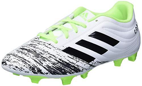 adidas Men's Copa 20.4 Firm Ground Soccer Shoe, White/Black/Signal Green, 8 M US