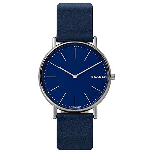 Skagen Herren Analog Quarz Uhr mit Leder Armband SKW6481