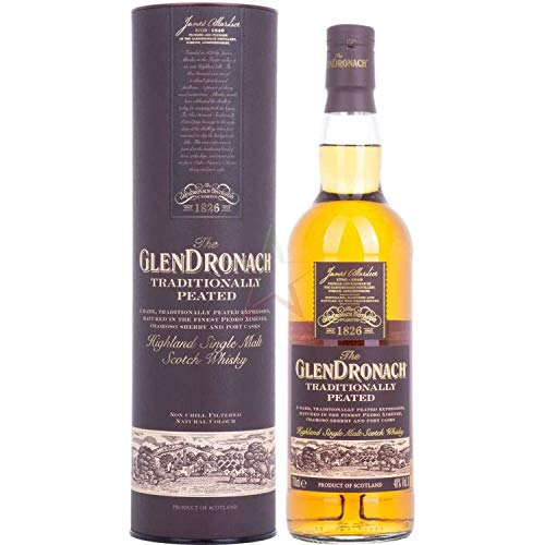 The GlenDronach TRADITIONALLY PEATED Highland Single Malt Scotch Whisky (1 x 0.7 l)