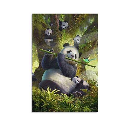 chengyin Pan Da - Póster con flauta de oso chino (75 x 50 cm)
