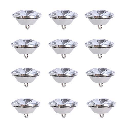 MILISTEN 20 Botones de Diamantes de Imitación Botones de Tapicería de Cristal de Diamantes de Imitación con Botones de Lazo de Metal para Coser Botón de Sofá Decoración de Manualidades de