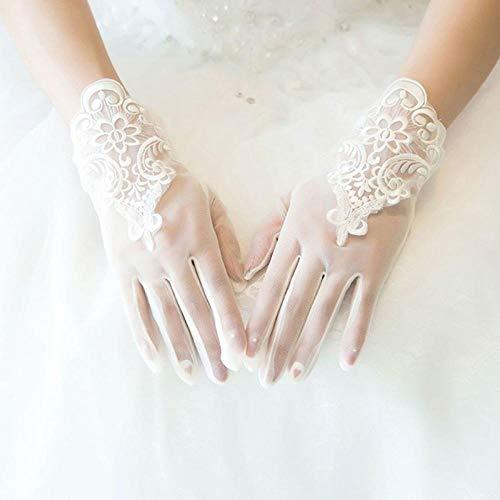 GBSTA Vingerloze Handschoenen Glamour Bruid Jurk Handschoenen Kant Korte Paragraaf Wanten Bruiloft Jurken Accessoires Charmante Dame Vrouwen Handschoen met Vingers