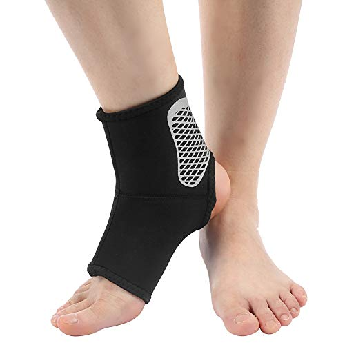 Ingeweven elastische stof enkelondersteuning universele compressiebeschermfolie voor letsel reducerende enkel voet blote voeten hiel