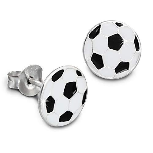 Tee-Wee Children's Earring SDO8114S Football Black/Children/Kids 'Jewellery 925Sterling Silver Stud